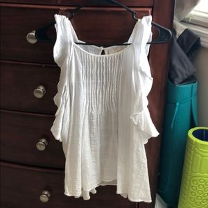 White flow-y tank top. Worn once.